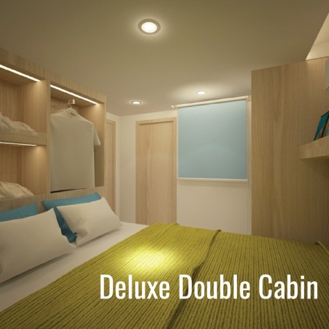 Deep Andaman Queen deluxe double bed cabin from Phuket dash Scuba (www.phuket-scuba.com), your personal Thailand liveaboard adviser