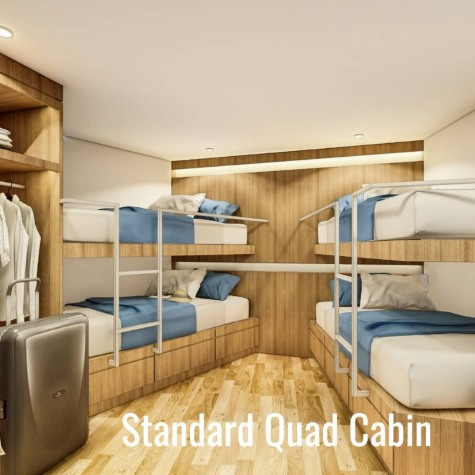 Deep Andaman Queen quad bed cabin from Phuket dash Scuba (www.phuket-scuba.com), your personal Thailand liveaboard adviser