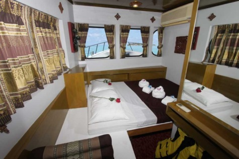 click here for a bigger picture of a mastercabin of Similans liveaboard boat Pawara